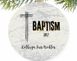 personalized baptism ornament catholic ornament etsy