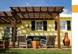 Attached Pergola Kits by Pergola Kits Old Western Timber Frame