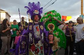 mardi gras costumes new orleans mardi gras indians on mardi gras day in new orleans photo