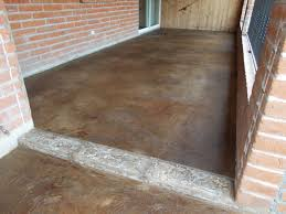 stained concrete patio overlay installation in tucson az by
