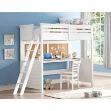 The Bedroom Furniture Store by Shop For White Lacey Twin Loft Bed With Desk And Cork Board Get