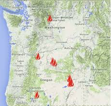 a map of oregon fires oregon smoke information