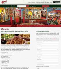 buca di beppo web design case study restaurant web design