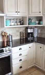 small kitchen wall cabinet ideas namely original painted kitchen and remodel reveal