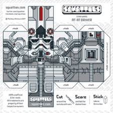 Star Wars Floor Plans At At Driver Character Paper Toy Squatties