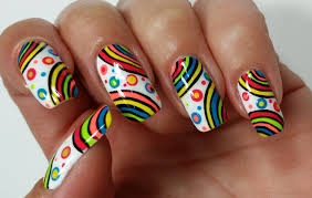 summer nail art rainbow nails design for kids photo designs for