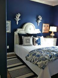 chambre bleu marine design interieur peinture décorative chambre bleu marine accents
