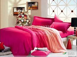 Coral Colored Comforters Discount Girls Gradient Color Quality Cotton Bedding Sets For