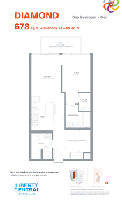 just listed fully upgraded 1 bedroom den with rare 2 full baths
