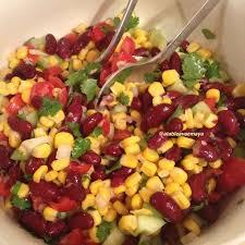 cuisiner mexicain salade de maïs et haricots rouges à la mexicaine recette salades