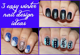 three easy winter nail designs for short nails 3 youtube