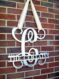 monogrammed wedding gift wall ideas monogrammed wall outdoor monogram wall vinyl