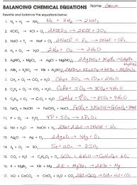 word equations worksheet chemical reactions tessshebaylo