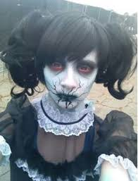 Evil Doll Halloween Costume Evil Horror Fantasy Makeup Scary