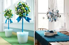 Blue Christmas Decorations Table by The Bloomin U0027 Couch Quick Christmas Table Decoration Inspiration