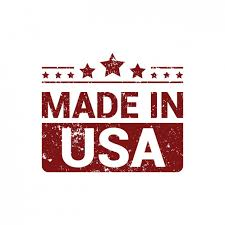 made in usa in grunge style vector free
