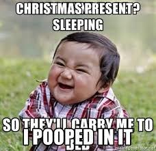 Christmas Present Meme - christmas present i pooped in it cute little boy meme generator