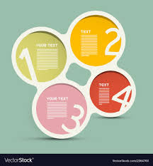 circle layout vector circle paper infographics layout template on vector image