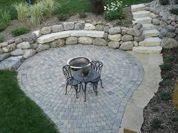 Circular Patio Kit by Patios Des Moines Iowa Landscaping Perennial Gardens