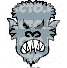 vectorof fall halloween background clip art free vector of a mad cartoon halloween werewolf by zooco 42984