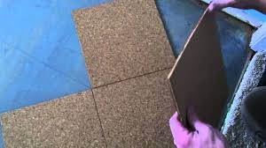cork floor install how to install a cork glue down floor youtube