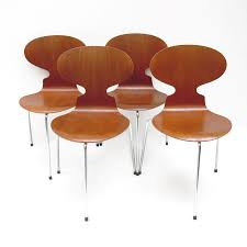 Arne Jacobsen Dining Chairs Dining Chairs 3100 The Ant By Arne Jacobsen 1951 For Fritz