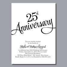 Silver Wedding Invitation Cards 25th Wedding Anniversary Invites Silver Wedding Anniversary