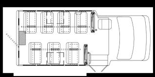 school bus floor plan school bus floorplan 14p commtrans service center