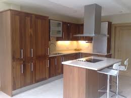 black walnut cabinets example of a classic lshaped eatin kitchen
