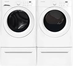 Front Load Washer With Pedestal Amazon Com Frigidaire White Front Load Laundry Pair With