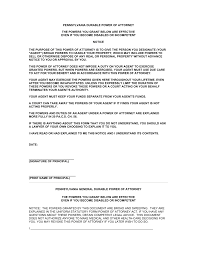 Power Of Attorney Letter Sample Authorization by Free Pennsylvania Power Of Attorney Forms Word Pdf Eforms