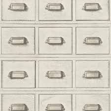 rasch wood cabinet drawers pattern wallpaper faux effect 524000