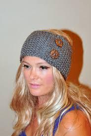 headband ear warmer earwarmer winter headband ear warmer buttons wrap crochet