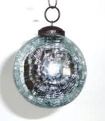 metallic glass bell ornaments are handmade in india