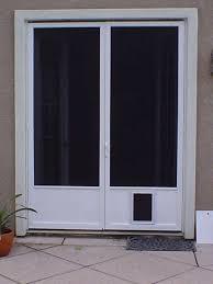 Exterior Pet Door Steel Doors With Doggie Doors Shaded Screen For The
