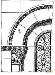 roman arch coloring free printable coloring pages