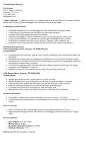 cosmetologist resume exles cosmetology resume template cosmetology student resume exles