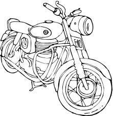 old motorcycle coloring page transportation free printable