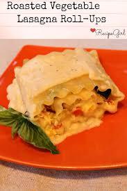roasted vegetable lasagna roll ups