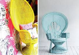 Cane Peacock Chair For Sale Diy Home Painted Peacock Chair A Pair U0026 A Spare