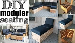 Free Plans For Yard Furniture by Sectional Modular Sofa For Your Patio