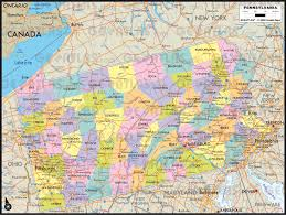Map Pennsylvania by Geoatlas United States Canada Pennsylvania Map City