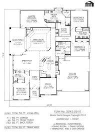98 5 bedroom one story floor plans best 20 courtyard house