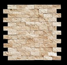 light 1 x 2 split face travertine mosaic tile so cool for a