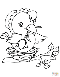 easter bird coloring page free printable coloring pages
