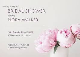 bridal shower invitation templates 19 diy bridal shower and wedding invitation templates venngage
