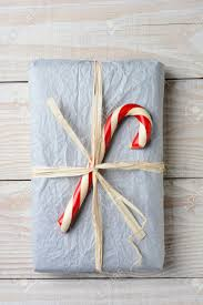 present tissue paper high angle of an fashioned christmas present the gift