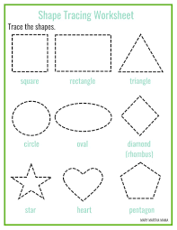 free printable shape tracing worksheets kbn learning activities