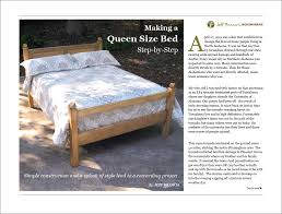 free woodworking plan making a queen size bed step by step jeff
