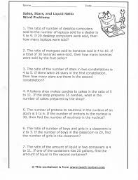 sixth grade ratios worksheet math worksheets ratio word 6th prin
